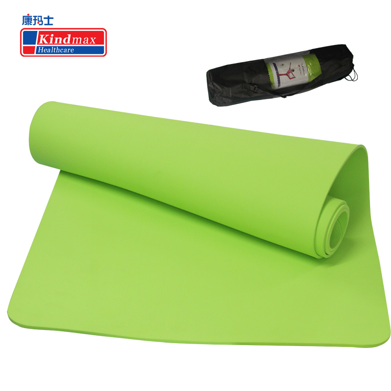 Kindmax TPE 4 Colors Non-slip Yoga Mats 6MM Exercise Pad Fitness Mat Pilates Environmental Tasteless Camping Pads yoga pilates mat pu 5mm for beginners and seniors super non slip widened workout yoga pilates gym exercise fitness gym mat