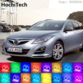 Para mazda 6 Para RGB LED farol angel eyes kit de halo carro styling acessórios 2007 2008 2009 2010 2011 2012