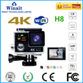 EKEN 4 k WIFI waterproo esportes câmera WINAIT/H8/H8R/H8 PRO dual display sports câmera livre grátis