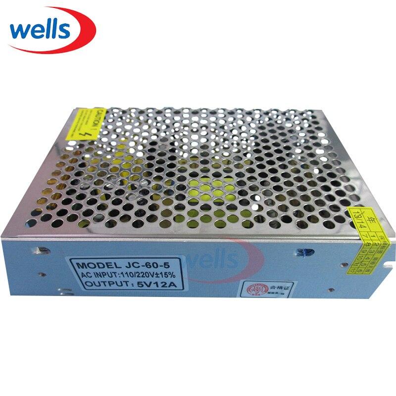 60 W 5 V 12A Alimentation à découpage Unité 120/240VAC LED Bandes Pixels CCTV PSU