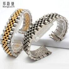 Montre en acier inoxydable massif avec boucle pliante bracelet en métal pour hommes et femmes pour Rx constant log bracelet en acier inoxydable 17 20