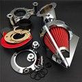 Chrome filtro de ar para Harley Dyna Electra Glide FLHX Road King 2008 - 2012 motocicleta parte