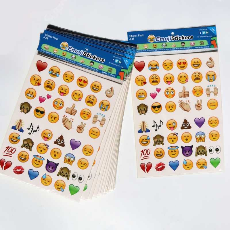 4 Pcs/set big emoji Kids Lovely Emoji Smile Stickers for Laptop Notebook Message Fun Toys for Children Cartoon Vinyl Decor Gifts
