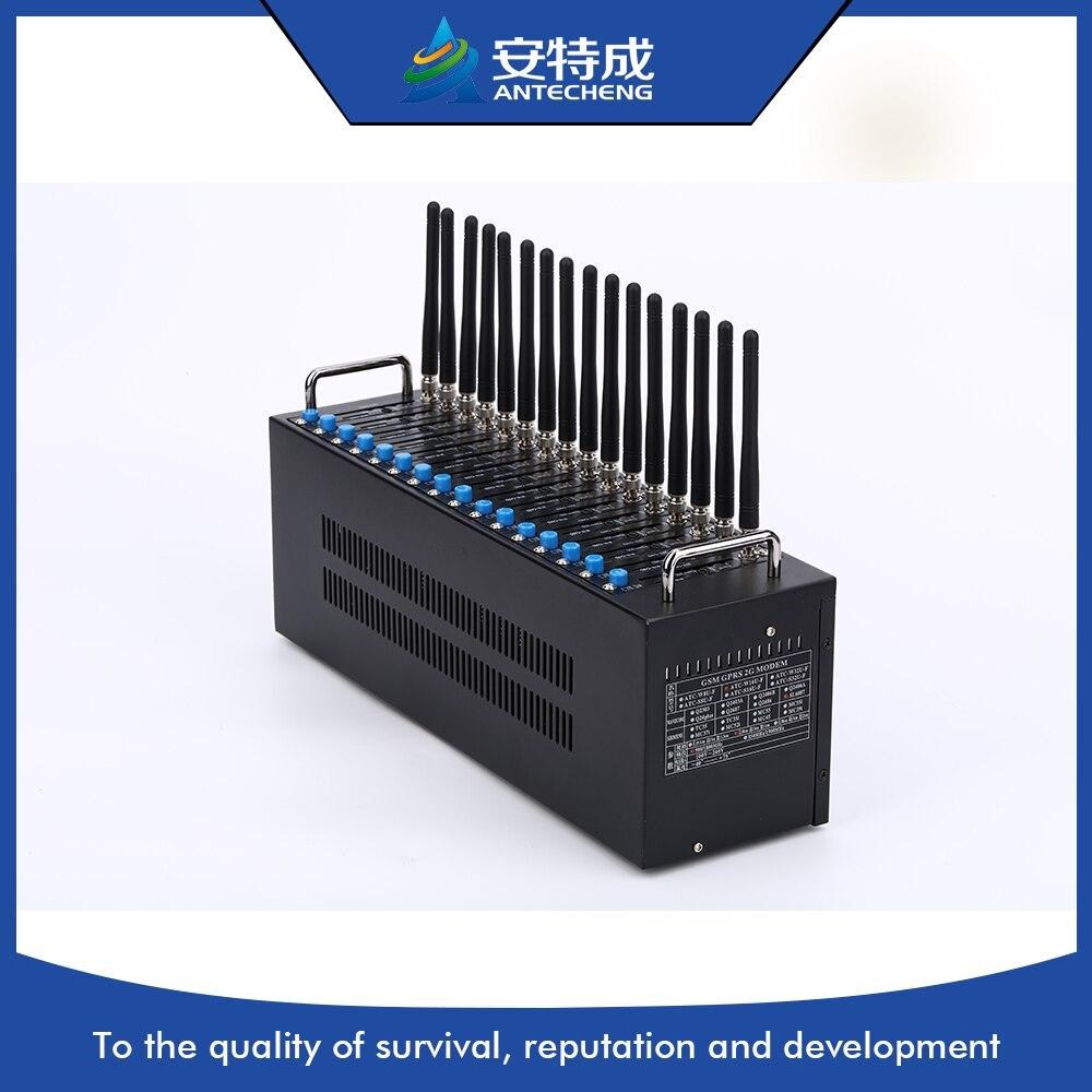 16 портов GSM GPRS модемный пул q24plus, Wavecom 16 порт GSM модем, wavecom бассейн 16 смс 16 портов gsm модема sms модем команд AT