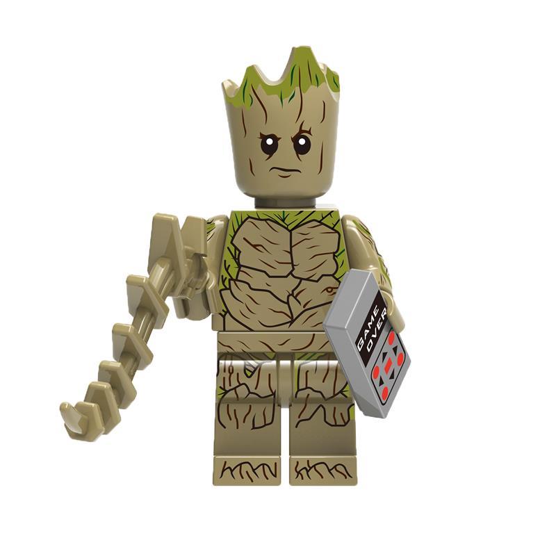 Xh882 Super Heroes Infinity War Avengers 3 Chessman Tree Man Thanos Doctor Strange Scarlet Witch Iron Man Building Blocks Toys