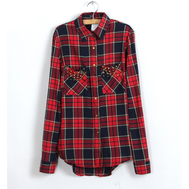 Popular Tartan Shirt Women-Buy Cheap Tartan Shirt Women lots from ...