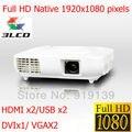 Топ-ранга изображение 1920 x 1080 3LCD проектор Full HD 3LED видео Projecteur высокое качество Proyector tft-hdmi USB VGA ATV лучемет домашний кинотеатр