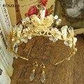 Gold/Silver Wedding Hats /Tiara Bride Hair Accessories Rhinestones Crystal Crown acessorio para cabelo SQ085