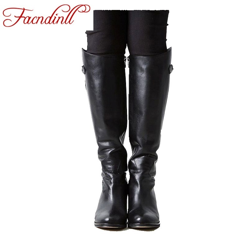 FACNDINLL winter shoes 2017 autumn boots women's over the knee boots Russia style black thick high heel warm snow boots platform бензиновый генератор dde dpg1001si