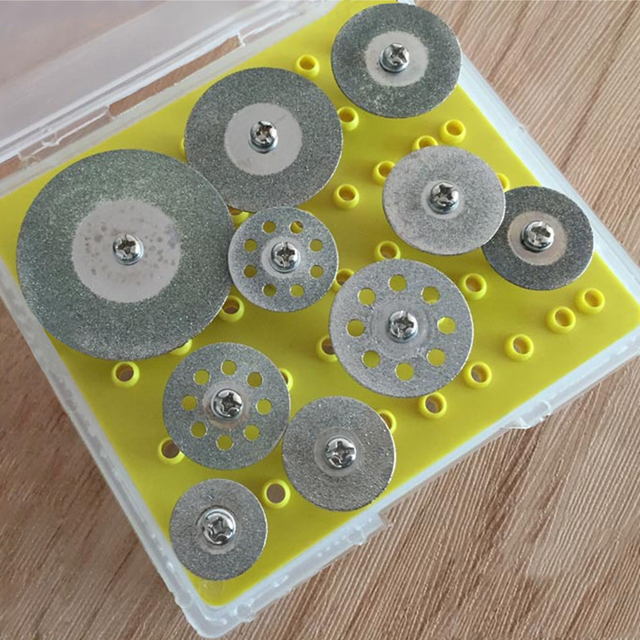 الحار! 10 قطعة قاطع ماسي أقراص قطع عقد مجموعة عجلات لقطع أداة دوارة دريمل/طحن/أدوات الحفر