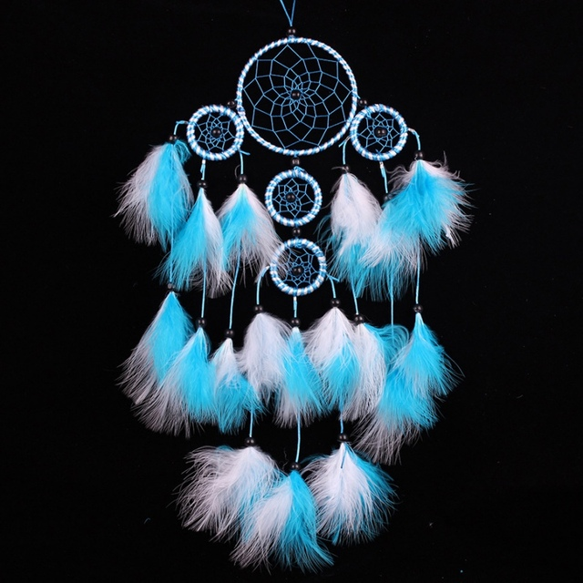 Handmade Dream Catcher With Feathers Wall Hanging Decoration Ornament Craft Wind Chimes New Arrival