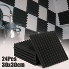 24 Pcs Soundproofing Foam Acoustic Foam Sound Treatment Studio KTV Room Noise Absorption Wedge Tiles Polyurethane Foam