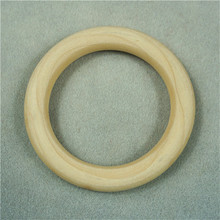 2019 Wooden Beads Connectors Circles Rings Unfinished Natural Wood Lead-Free DIY/Handmade 150MM cuentas de madera