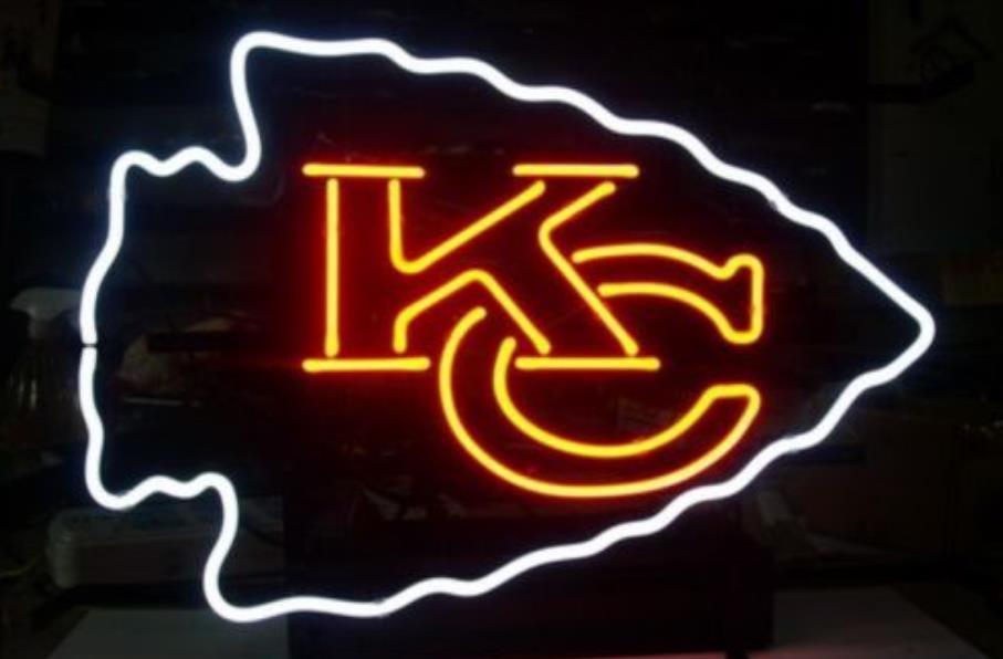 Business Custom Neon Sign Board For Football Led Kansas City Chiefs