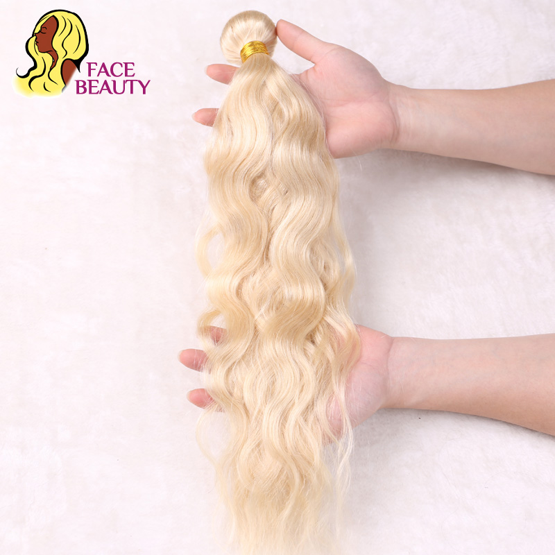 Facebeauty цельнокроеное платье 613 отбеливание Цвет блондинка Малайзии природных волнистые Инструменты для завивки волос Remy Человеческие волос...