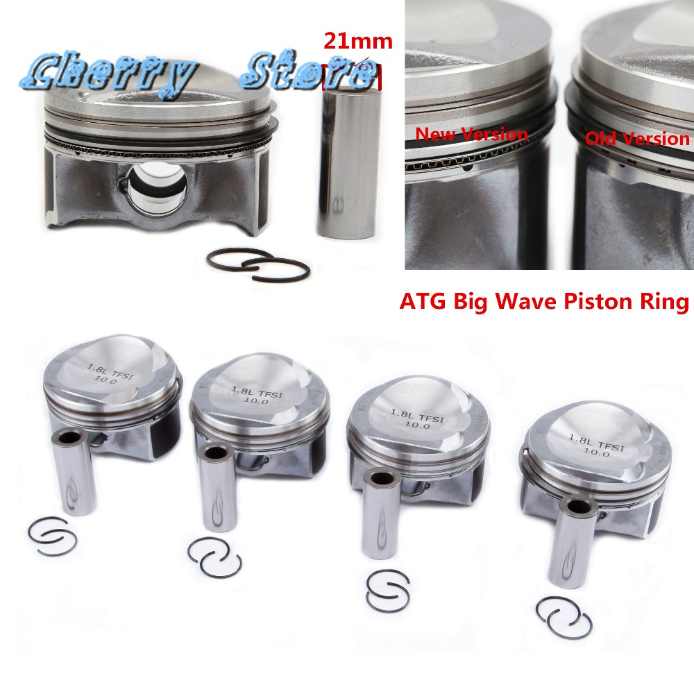 NEW 06H 107 065 BF ATG Upgrade Piston Piston Ring Assembly Pin 21mm For VW Golf
