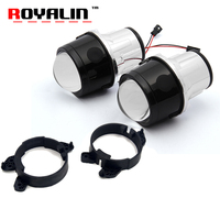 ROYALIN Car Bi Xenon Fog Lens For Mercedes Benz W204 W211 W164 W169 Smart Fortwo 2