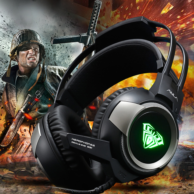 Virwir PC Gamer 7.1 Surround Sound Stereo USB Gaming Headphone with Microphone Casque Headset Gamer for Computer Laptop