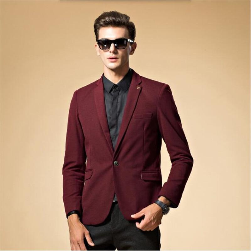 timeless design caaed 5d676 US $48.23 9% di SCONTO|Blu e rosso abiti da uomo giacca elegante stlish  groom wedding smoking jaket singola opera petto abiti formali jacket-in ...