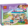New BELA 203pcs Friends 71085 Vet Clinic Building Blocks Sets Diy Bricks Educational toys Compatible Legoelieds Friends For Girl