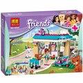 Nueva BELA 203 unids Amigos 71085 Bloques Huecos de los Ladrillos Diy juguetes Educativos de la Clínica Veterinaria Compatible Legoelieds Amigos Para Niña