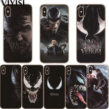 цена на venom Marvel Fundas For Apple iPhone X Case IPhone 7 8 6 6S Plus 5 5S SE X XS MAX XR Etui Coque Capas Soft Silicone case Cover