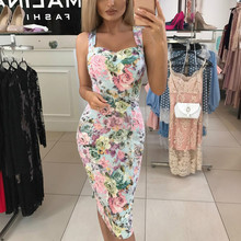 Summer Sleeveless Sexy Bodycon Casual Dress Women Floral Print Cross Bandage Party Mini Dress butterfly and floral print sleeveless mini dress