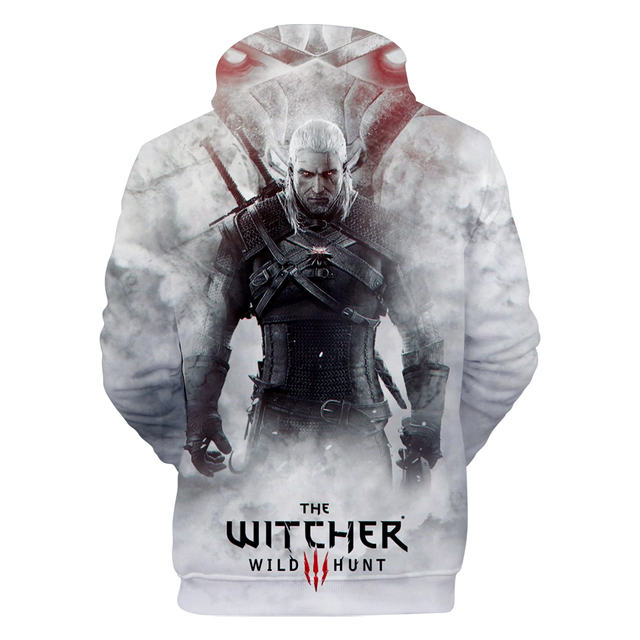 2018 hit Hot Game 3D The Witcher 3 cotton Hoodies sweatshirts Men Women Couple Sweatshirt Harajuku long sleeve Cool Pullovers 1