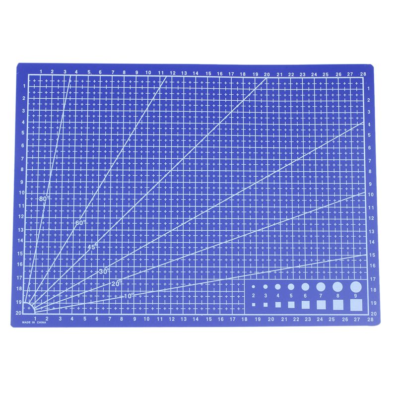 A4 Grid Lines Cutting Mat Craft Card Fabric Leather Paper Board 30*22cm Blue
