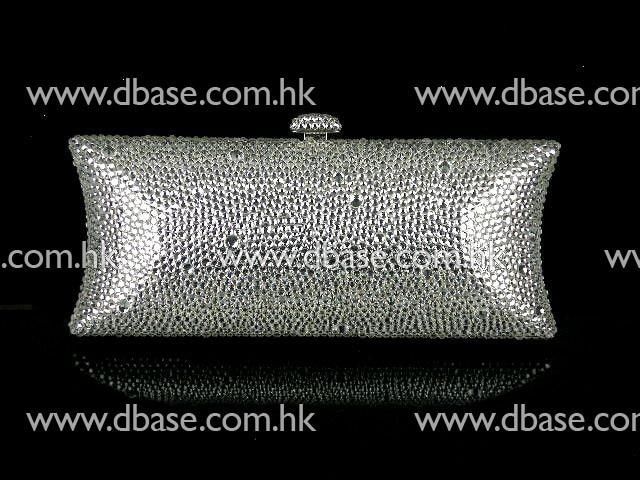 ФОТО S7735Z Silver Crystal Lady fashion Bridal Metal Evening purse clutch bag case handbag