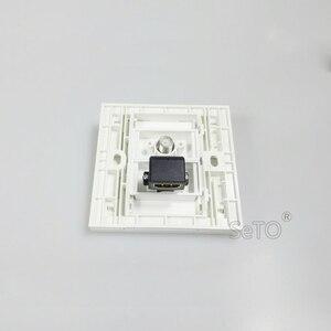 SeTo 86 Тип один порт локоть вставка HDMI + F головка цифровой ТВ Разъем Панель настенная пластина розетка Keystone Лицевая панель