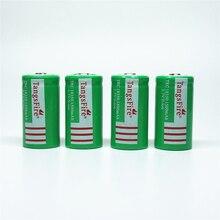 4Pcs TangsFire Rechargeable 18350 1500mAh 3.7V Li-ion Battery for Torch Green стоимость