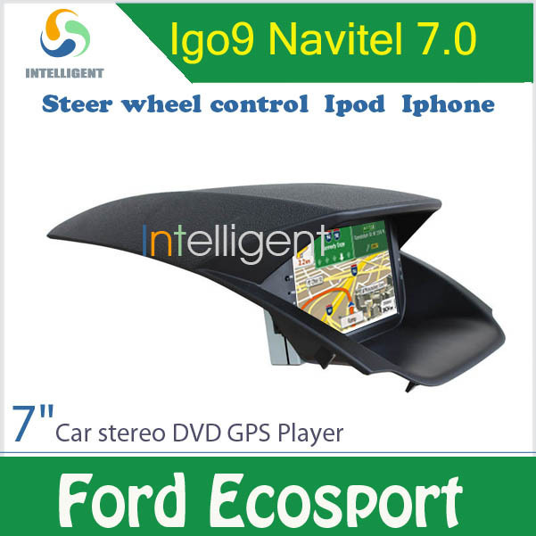 2 DIN Car DVD For Ford Ecosport DVD In dash touch screen with GPS IPOD IPHONE USB Car DVD Player