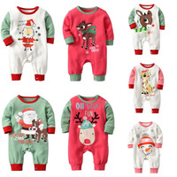 High Quality Newborn Infant Baby Girl Boy Deer Long Sleeve Thick Cotton Romper Xmas Outfits Christmas Bebe Baby Jumpsuits CA3341