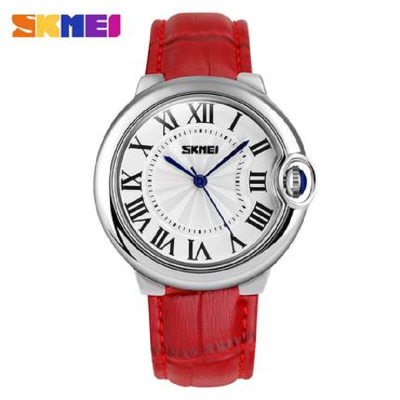 SKMEI Brand  Fashion Women Watch Luxury High Quality Quartz Leather Wrist Watch Ladies Wristwatch Relojes Mujer Montre Femme