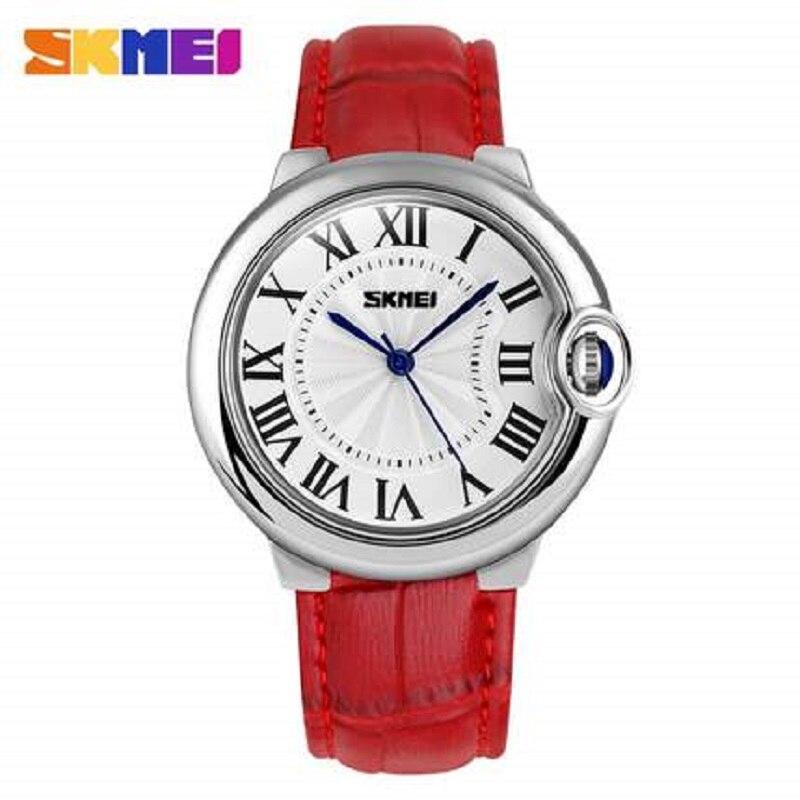 100% QualitäT Skmei Marke Mode Frauen Uhr Luxus Hohe Qualität Quarz Leder Armbanduhr Damen Armbanduhr Uhren Mujer Montre Femme Zu Den Ersten äHnlichen Produkten ZäHlen
