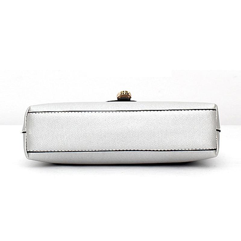 hjphoebolsa 2017 marca casual sacolas Women Handbags : Solid Hasp Bags