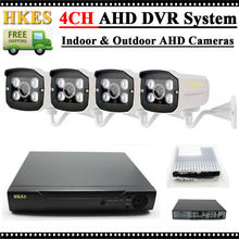 HKES 720P 8CH DVR AHD Surveillance Package Plug and Play HD 1.0MP Out of doors Waterproof Evening Imaginative and prescient Safety CCTV System