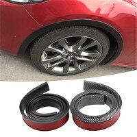1 pc 150 cm 탄소 섬유 자동차 타이어 eyebr 소프트 립 휠 아치 트림 휠 눈썹 아치 장식 스트립 자동차 펜더 플레어 확장|차량용 스티커|   -