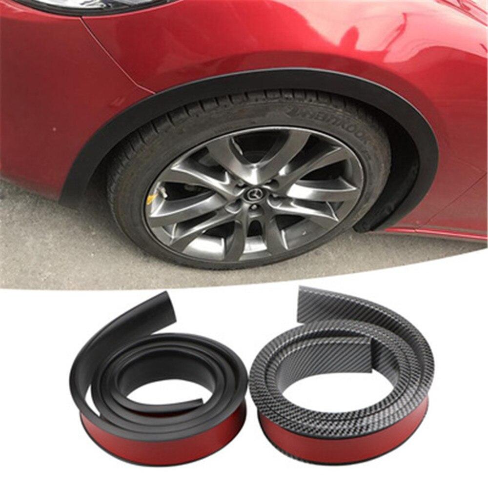 Eyebr 1 pc 150 centímetros Pneus de Carro de fibra de carbono Lábio suave Roda-Guarnição do arco Roda Sobrancelha Arco Decorativo Tira carro Fender Alargamento Extensão