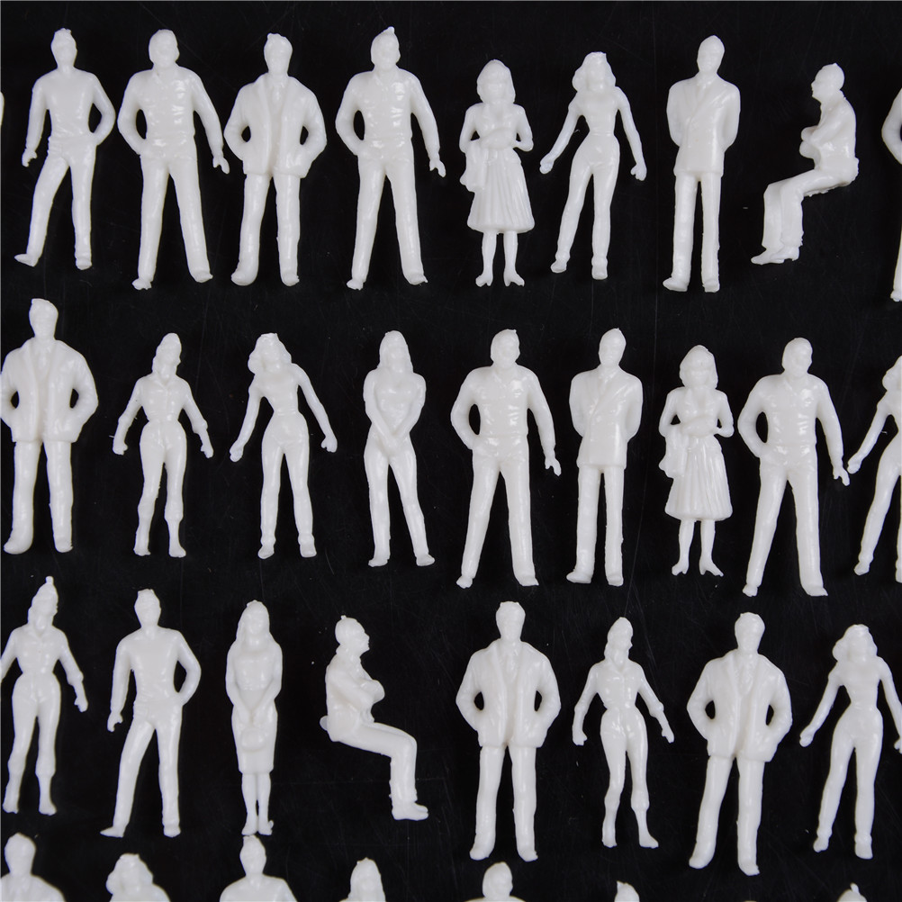 Model Miniature White Figures Architectural Model Human Scale Model ABS Plastic Peoples 10Pcs 1:50 Scale