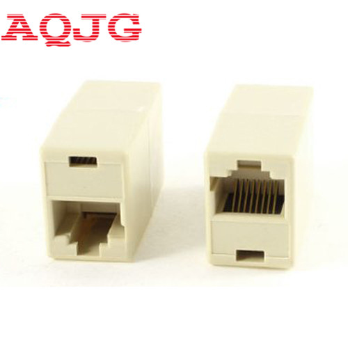 RJ45  Connector CAT5 CAT6 LAN Ethernet Splitter Adapter 8P8C Network modular plug for PC laptop 10PCS AQJG rj45 connector cat5 cat6 lan ethernet splitter adapter 8p8c network modular plug for pc laptop 10pcs aqjg