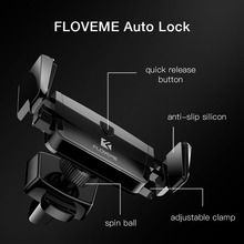 Floveme Air Vent Car Phone Holder For iPhone Samsung Huawei Xiaomi with Auto GPS Support