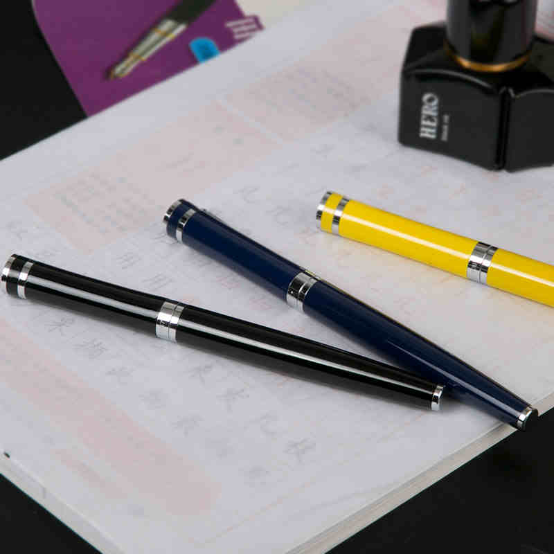 Free Shipping 0.38mm Nib Hero 1067 Fountain Pen Arbitrary Angle Writing Practise Pens fountain pen m nib hero 1508 dragon clip signature pens the best gifts free shipping