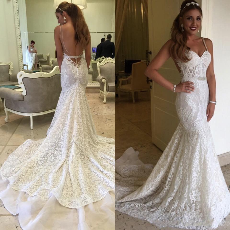 New Backless Berta Bridal Gowns Mermaid