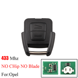 Image 5 - BHKEY 2Buttons Remote Car key Transponder Chip ID40 For Vauxhall Opel Astra Vectra Zafira HU43/HU100/YM28/HU46 Blade Optional