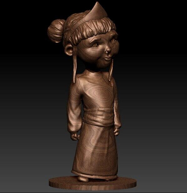 3D Model For Cnc Or 3D Printers In STL File Format Little Princess
