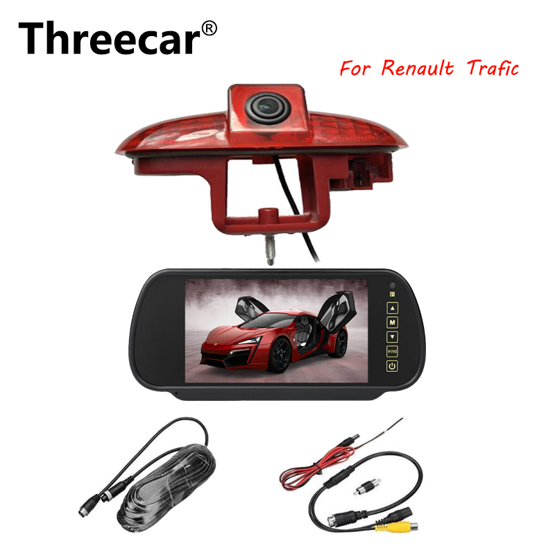 Threecar Car Brake Light Rear View Camera for Renault Trafic 2001-2014  reverse camera backup camera HD night vision Waterproof