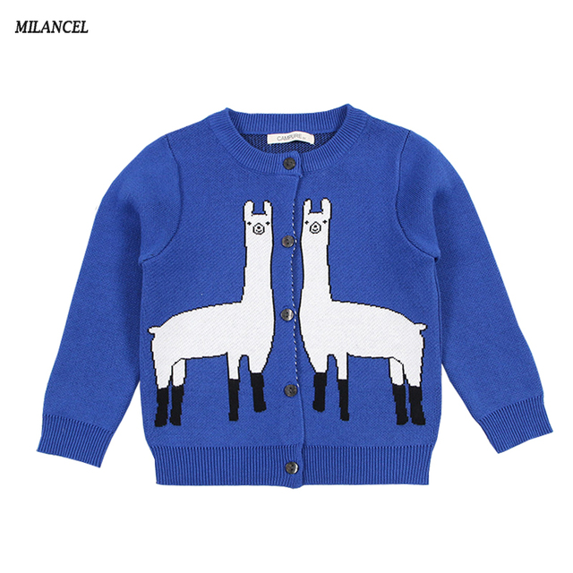 MILANCEl 2018 New Girls Sweaters Knitted Boys Clothing Giraffe Style Kids  Sweaters Cotton Girls Cardigans Kids Knitwear e1a6382b1