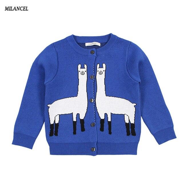 MILANCEl 2018 nouvelles filles chandails tricotés garçons vêtements Style girafe enfants chandails coton filles Cardigans balles